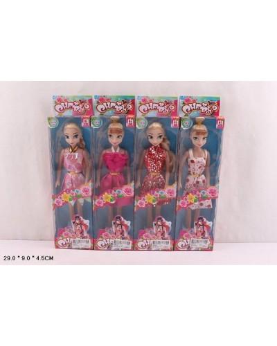 """Кукла """"Frozen"""" 2204-6 4 вида, в летнем платье, в кор. 29*9*4,5см"""