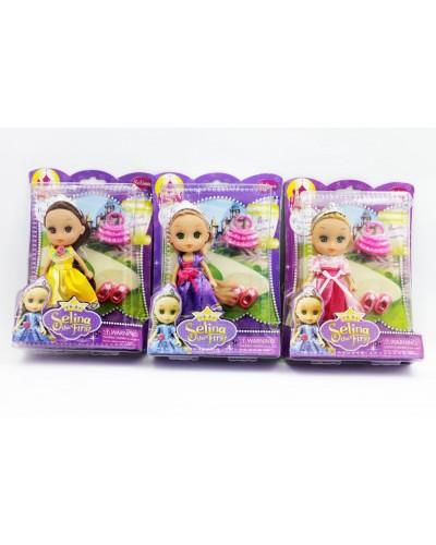 """Кукла """"Selina"""" 86015 3 вида, с аксесс, в кор 22*16см"""