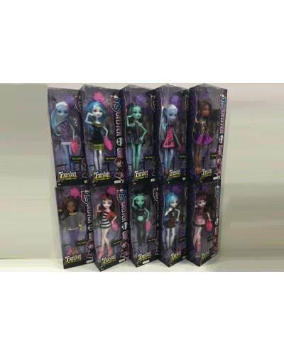 """Кукла """"Monster High"""" YF10010-1 10 видов, шарнир, с аксесс, в кор.14*7*33см"""