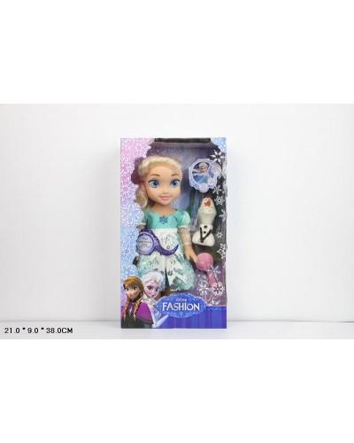 """Кукла """"Frozen"""" 368-1 муз, снеговик светится, в кор. 21*9*38см"""