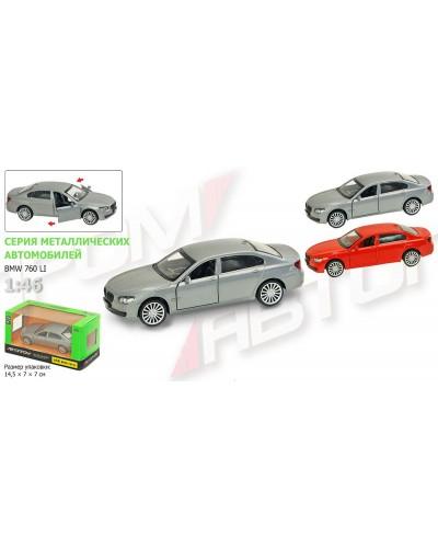"Машина металл 67314  ""АВТОПРОМ"", BMW 760LI, откр.двери, в кор. 14,2*7,2*6,5см"