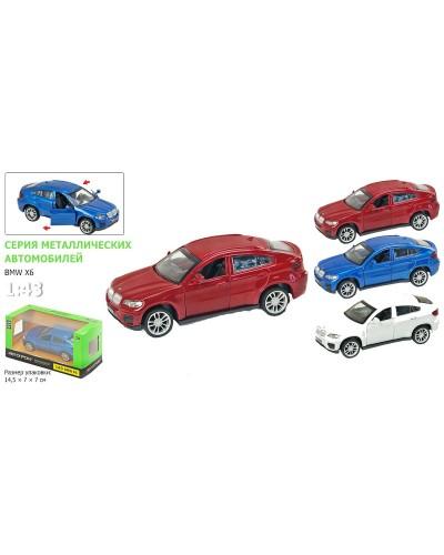"Машина металл 67313 ""АВТОПРОМ"",BMW X6, откр.двери, в кор. 14,2*7,2*6,5см"