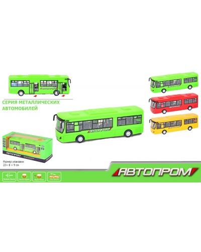 """Автобус металл 7780 """"АВТОПРОМ"""" батар., свет, звук, в коробке 22*9*8см"""