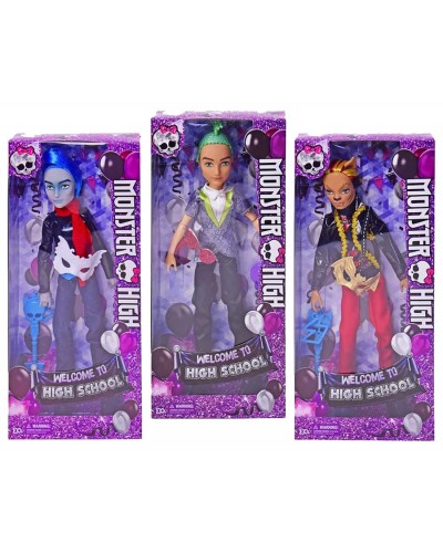 """Кукла """"Monster High """"Welcome to high school"""" MH9359 3 вида, 2 наборе, в кор.14,5*5*32см"""