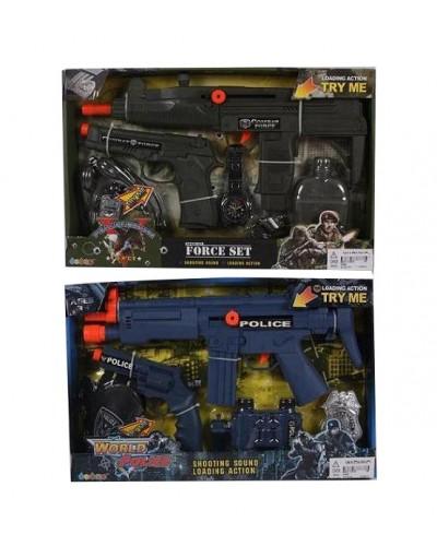 Полицейский набор 33850/80, 2 вида, оружие, батар., в коробке 40*26*4см