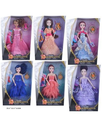 """Кукла """"DD"""" BLD032/BLD032-1/2, 6 видов, в бальных платьях, шарнир, в кор.25*6*33см"""