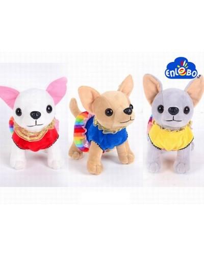 """Мягкая игрушка SF265376 """"Собачка-Чихуахуа"""" 3 вида, в пакете 18*19 см"""