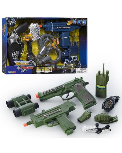 Полицейский набор 33890/33900, 2 вида, оружие, батар., в коробке 38*24*4см