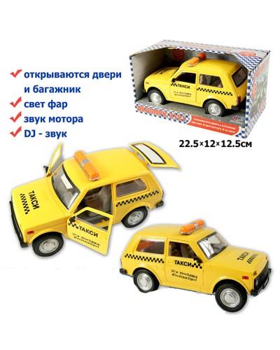 "Машина батар 9078-E ""Нива"" ""Такси"" звук, свет, в кор. 22,5*12*12,5см"