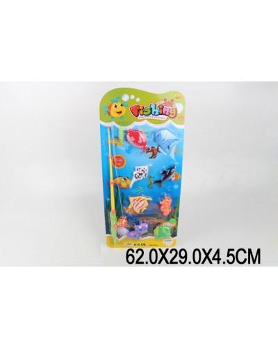 Рыбалка 8201K-1/8203K-1, магнит., удочка, рыбки, на планшетке 62*29*4,5см