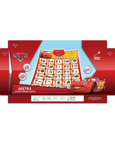 "Плакат обуч. ""Абетка"" Cars KI-7734 укр. плакат, батар., 60*44*2 см в кор."