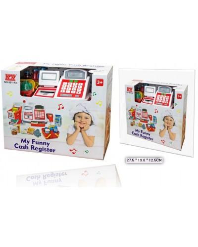 Кассовый аппарат 5611AN батар., с продуктами, корзинкой,  деньгами,  в кор27*13*12.5см