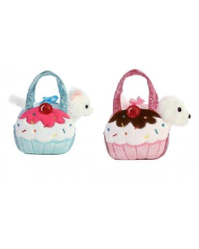Мягкая игрушка CLG17053 животное в сумочке, 2 вида, в пакете 20*8*17 см