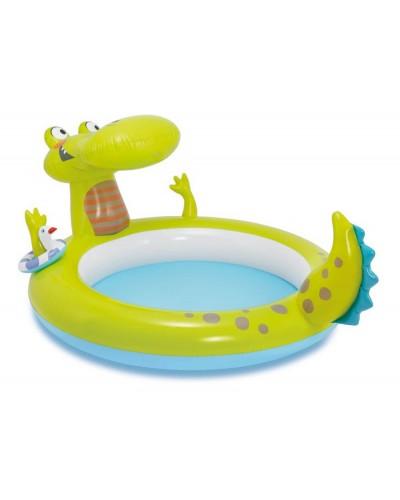 """Бассейн детский """"Крокодил"""" с разбрызгивателем 198*160*91см Intex"""