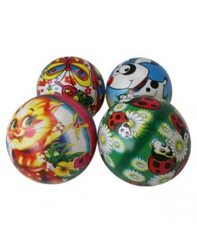 """Мяч 9"""" BT-PB-0115 с круговым рисунком 4в.70г сетка /300/"""