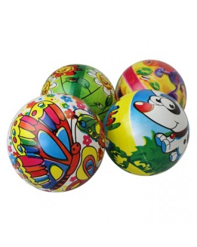 """Мяч 9"""" BT-PB-0120 с круговым рисунком 4в.70г сетка /300/"""