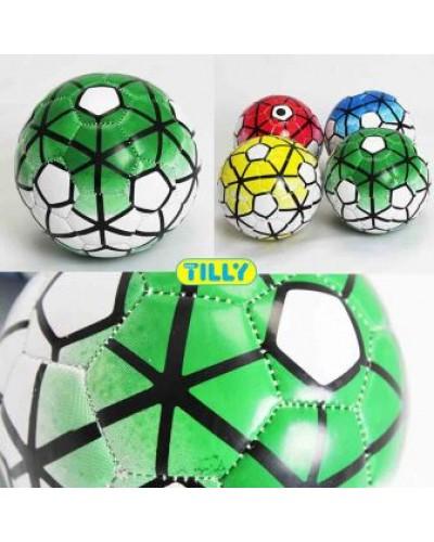 Мяч футбольный BT-FB-0142 PVC размер 2 100г 2-х слойный 4цв./200/