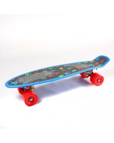Скейт BT-YSB-0069 пластик. с наждачкой PVC колеса 57*14см 1,63кг /8/
