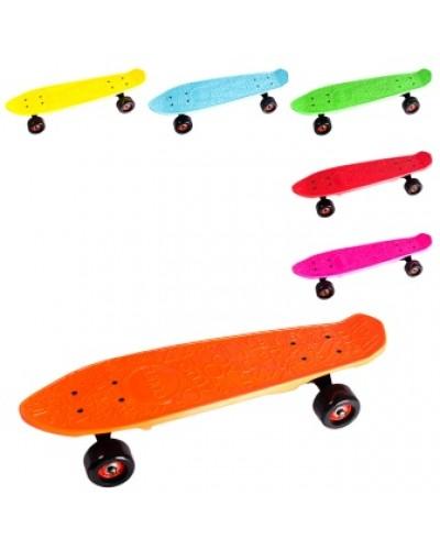 Скейт BT-YSB-0074 пластик.+ алюм.PU колеса 40*65мм, 56*14см 5цв. кор.ш.к./6/