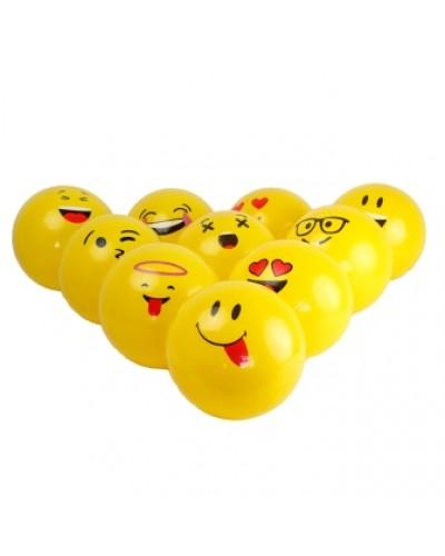 """Мяч 6"""" BT-PB-0111 смайл желтый 9в. 40г сетка /300/"""