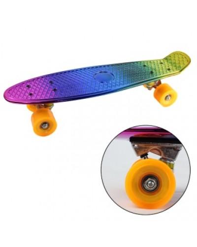 Скейт BT-YSB-0062 пластик. PVC колеса 57*14см 1,63кг блестящий /8/