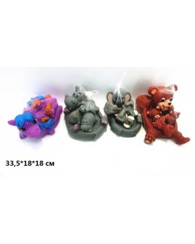 Набор для ванной YY01 резиновые животные 4в. 4шт. сетка 33,5*18*18 /120/