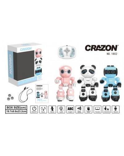 Робот CRAZON 1802 на р.у. муз. свет. танц. програмир. 3в. кор. 23,2*9,8*19,7 /24/