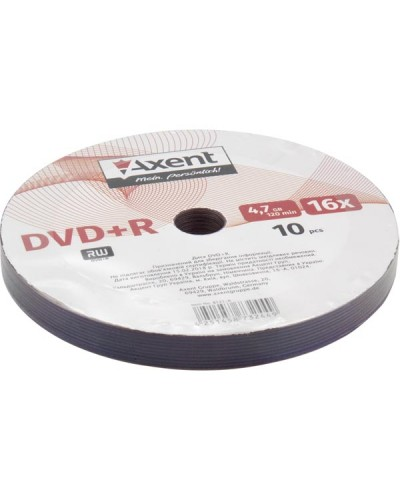 DVD+R 4,7GB/120min 16X, bulk-10 продажа уп, в уп 10 шт