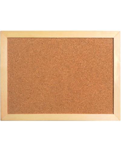 Дошка коркова, 45х60 см., дерев'яна рамка