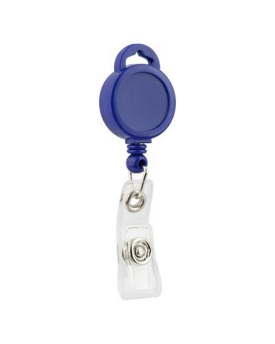 Кліп-рулетка для бейджа, синій, 4519