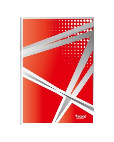 Книга записна А4 Office, 96арк., кліт., червоний