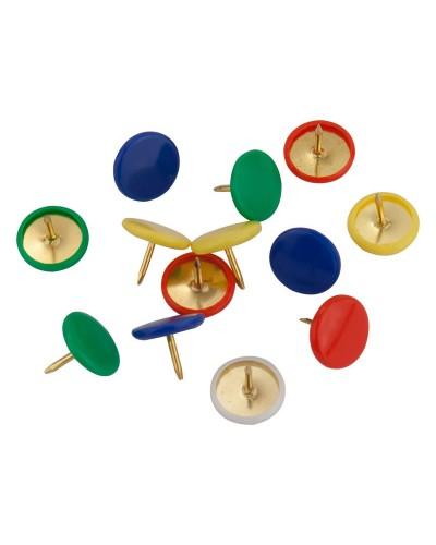 Кнопки кольорові, 100 шт., пласт.покр., пласт.контейнер