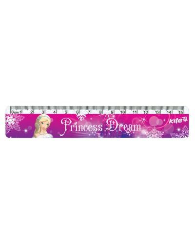 Лінійка пластикова, 15см Princess Dream