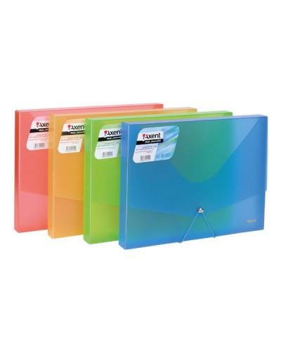 Папка на гумках об'ємна, А4, асорті прозор кольорів