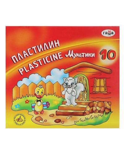 """Пластилін """"Мультики-2"""", кор., стек, 200 г, 10 кол."""