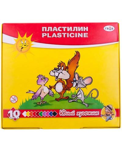 "Пластилін ""Юний художник"", стек, 140 г, 10 кол."