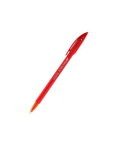 Ручка кулькова Spectrum, червона продажа упаковкой 50 шт.цена за штуку