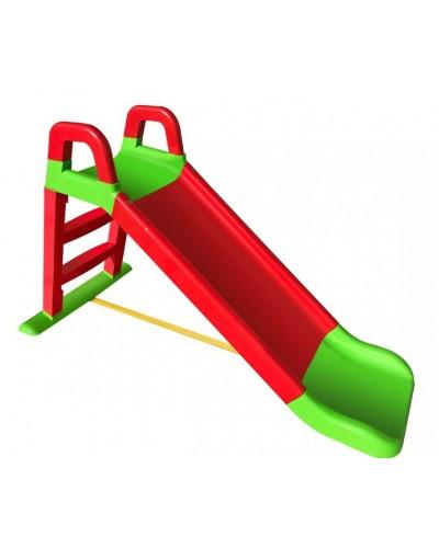 Детская горка для катания дома и дачи 140 см красно-зеленая, арт. 0140/01, Фламинго (Долони)