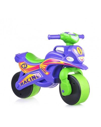 "Мотобайк ""Спорт"" музык. (фиолетово-зелёный), арт. 0139/6, Фламинго (Долони)"