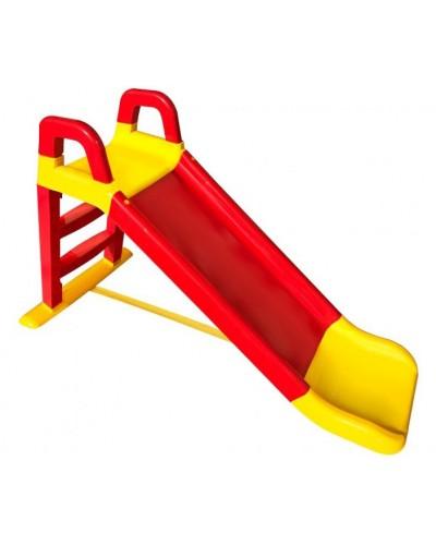 Детская горка для катания дома и дачи 140 см красно-желтая, арт. 0140/02, Фламинго (Долони)