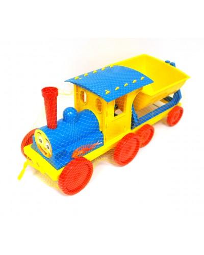 Поїзд-конструктор 1 прицеп 013115 голубий