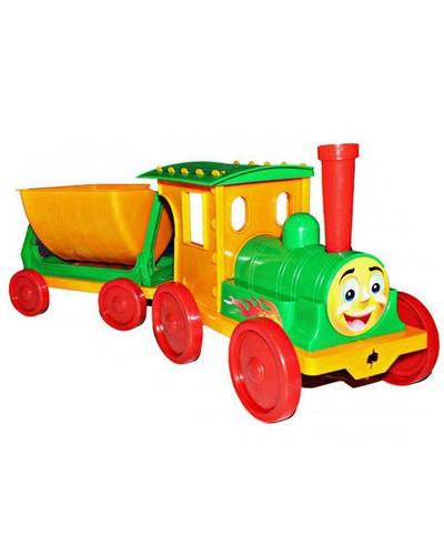 Поїзд-конструктор 1 прицеп 013115 салатовий