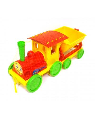 Поїзд-конструктор 1 прицеп 013115 червоний