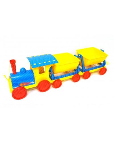 Поїзд-конструктор 2 прицепа 013118 голубий