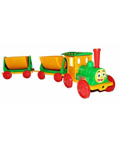 Поїзд-конструктор 2 прицепа 013118 салатовий