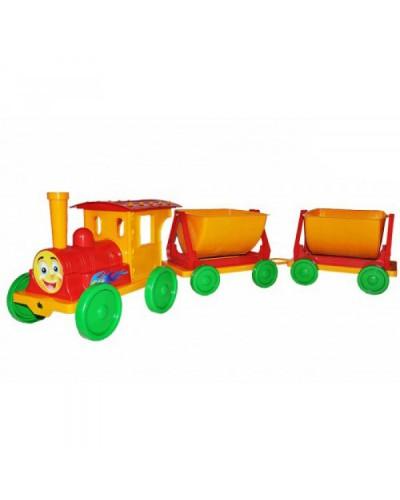Поїзд-конструктор 2 прицепа 013118 червоний