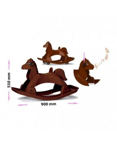 Лошадка-качалка музыкальная 05550/1 Doloni (Цвет - коричневый)