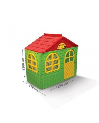 Детский игровой домик со шторками Doloni 02550/13 (Цвет Зелено-красный)