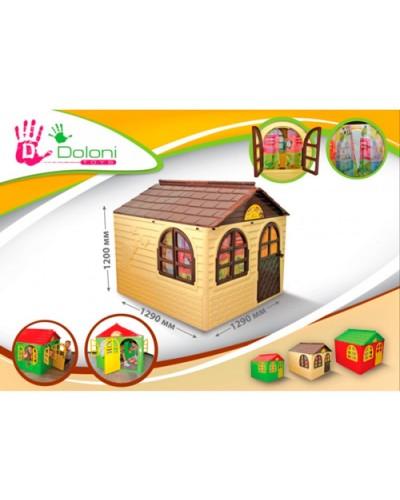 Детский игровой домик со шторками Doloni 02550/2 (Цвет Бежево-шоколадный)