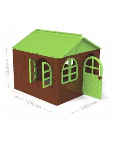 Детский игровой домик со шторками Doloni 02550/4 (Цвет Коричнево-зеленый)